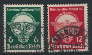 Deutsches Reich 689-690 Reichsberufswettkampf Sport gestempelt Kat-Wert 10,00 0