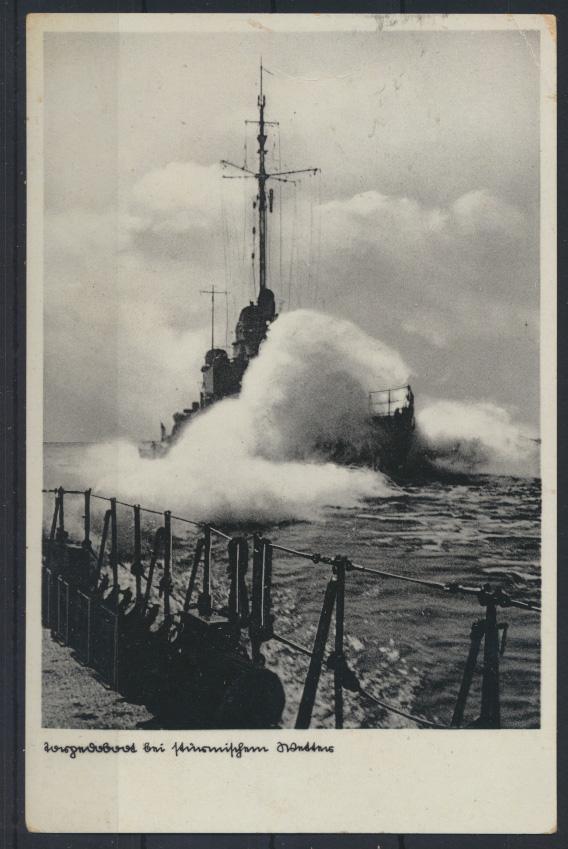 Ansichtskarte Kiel Schifffahrt Torpedoboot Masch.St. Kinderarmes Volk n Hersfeld 0