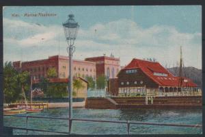 Ansichtskarte Kiel Marine Akademie von Elmschenhagen nach Neusalza Sprengberg
