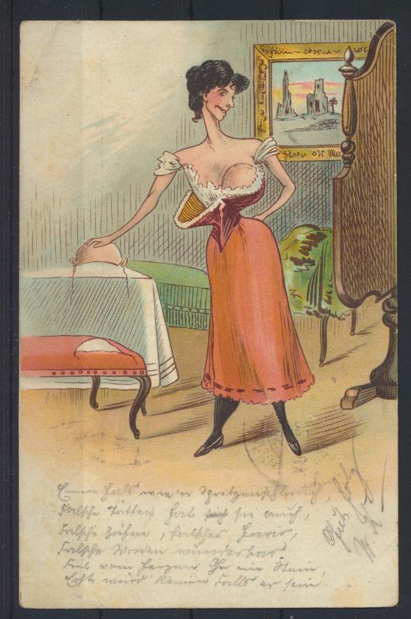 Ansichtskarte Litho Künstler Humor Scherzkarte Frauen Erotik 1902 0