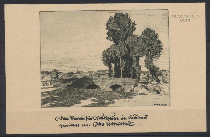 Ansichtskarte Künstler signiert Otto Ubbelohde Nr. 197 Hessisches Dorf 0