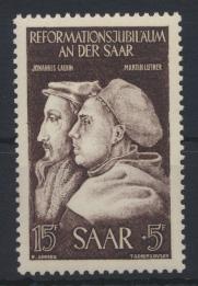 Saarland 308 Reformation Luxus postfrisch MNH Kat.-Wert 5,00 0