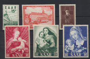 Saarland 348-353 4 Ausgaben Jahrgang 1954 Luxus postfrisch MNH Kat.-Wert 29,50