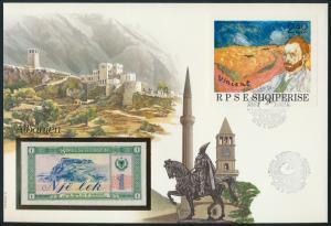 Geldschein Banknote Banknotenbrief Albanien 1990 schön und exotisches Motiv