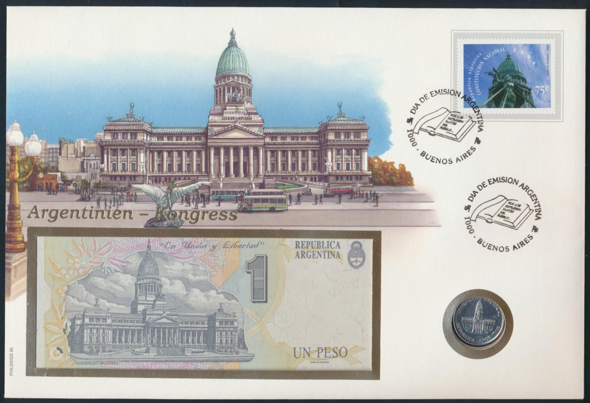 Geldschein Banknote Banknotenbrief Argentinien 1995 schön und exotisches Motiv   0