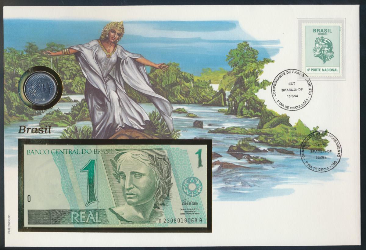 Geldschein Banknote Banknotenbrief Brasilien 1994 schön und exotisches Motiv   0