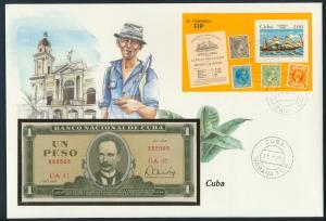 Geldschein Banknote Banknotenbrief Kuba 1984 schön und exotisches Motiv
