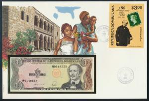 Geldschein Banknote Banknotenbrief Dominikanische Republik exotisches Motiv