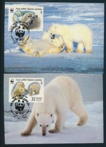 Sowjetunion 5694-5697 Naturschutz Eisbären Set Satz postfrisch FDC+Maximumkarten