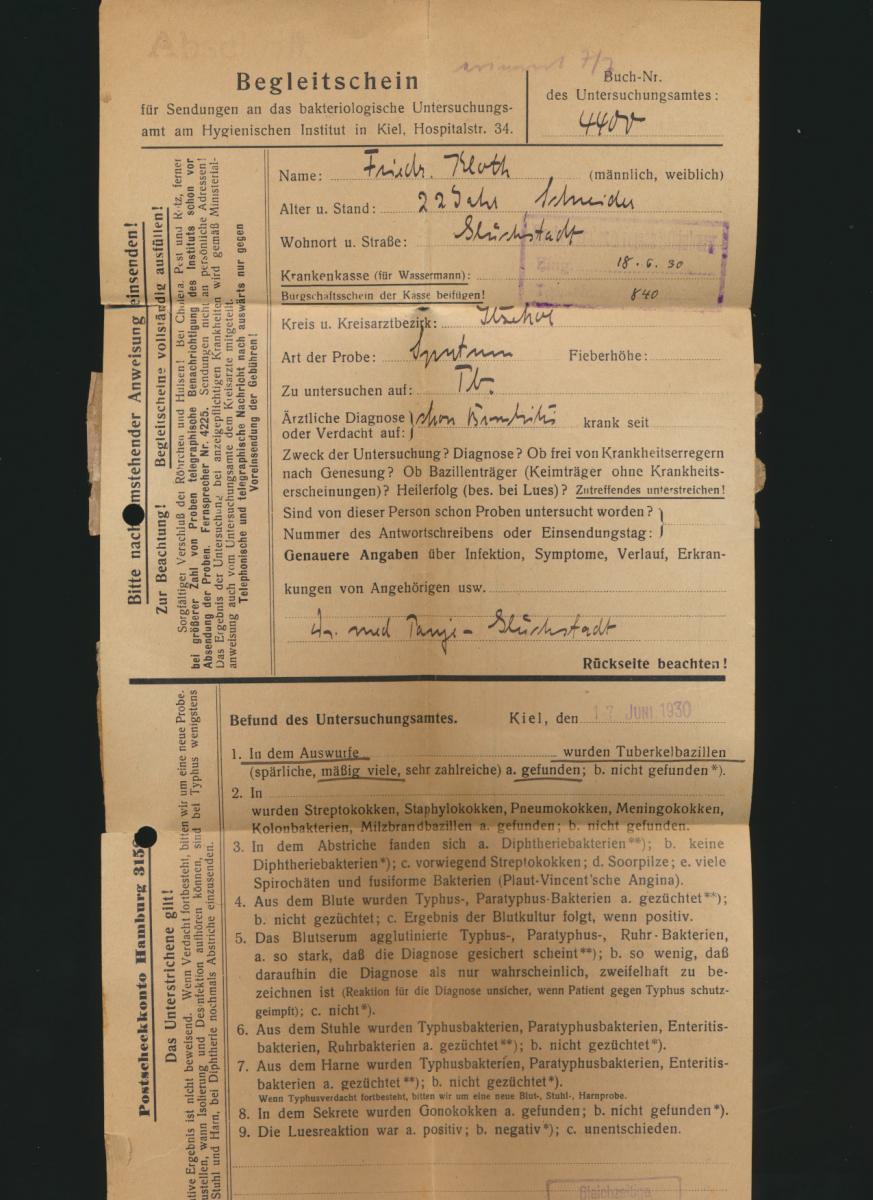Deutsches Reich Schleswig Brief EF Dienst 118 Kiel Itzehoe Medizin Hygienisches 1