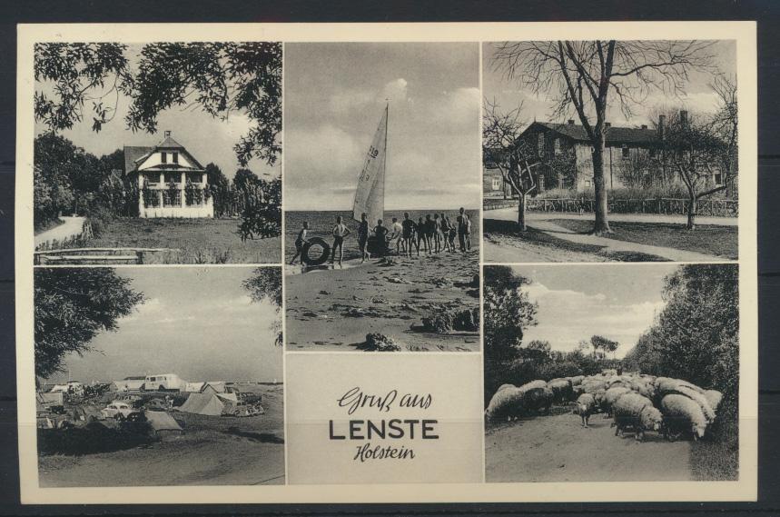 Ansichtskarte Lenste Holstein Camping nach Schötmar Lippe  0