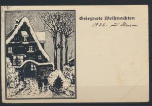 Ansichtskarte Künstler sign. KB  Weihnachten von Eutin n Mittelsfelde 22.12.1936