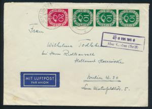 Bund Brief MIF Posthorn Landpoststempel Hemme über Heide Schleswig nach Berlin