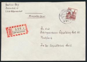 Bund R Brief EF 998 Burgen Schlösser Hohenwestedt nach Schwäbisch Hall