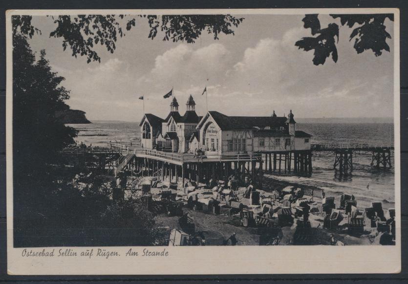 Ansichtskarte Sellin Rügen Ostsee am Stande 1944 Mecklenburg-Vorpommern  0