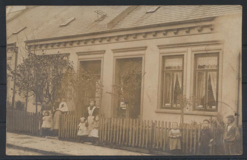 Ansichtskarte Bremen Familie Privathaus 1909 nach Carlshöfen 0