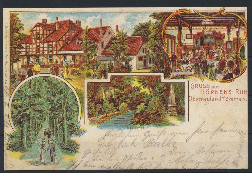 Ansichtskarte Bremen Litho Höpkens Ruh Oberneuland Nachdruck  0