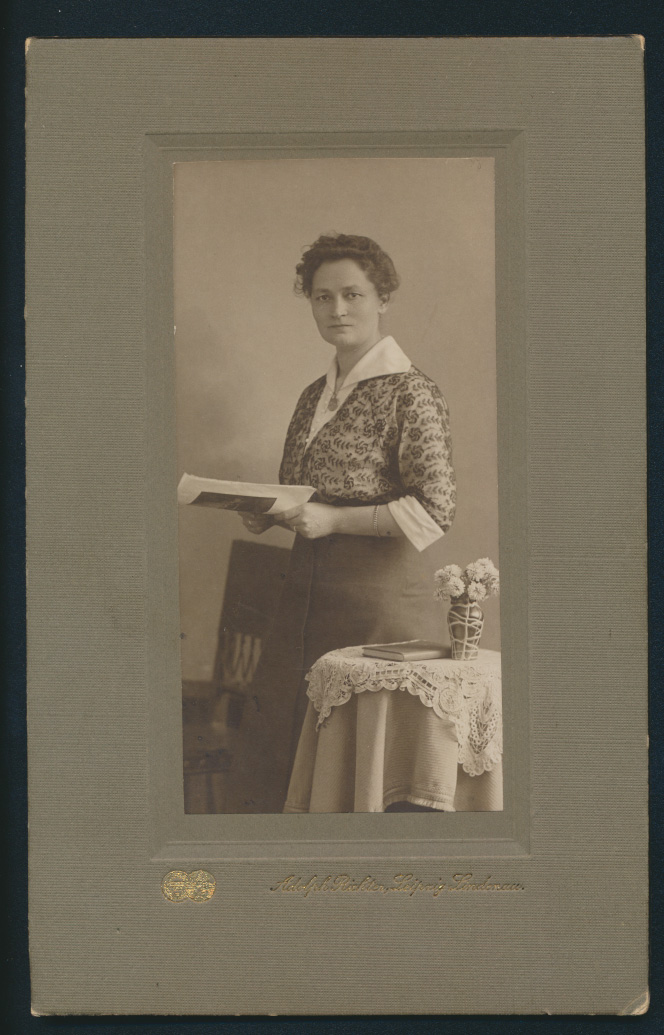 Original Fotoplatte Martha Klose Atelier Adolf Richter Leipzig Lindenau  0