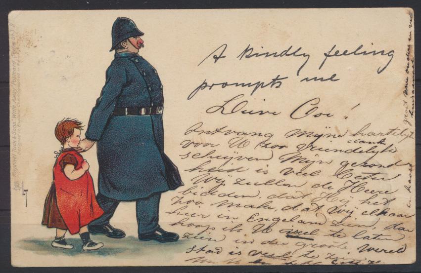 Künstler Ansichtskarte Verlag Raphael Tuck Polizei Schutzmann Kind 0