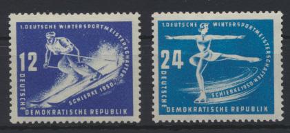 DDR 246-7 Wintersportmeisterschaften Luxus postfrisch Kat.-Wert 16,00 0