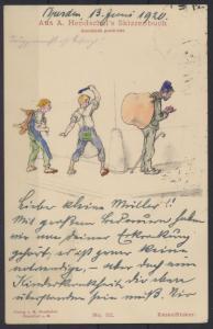 Künstler Ansichtskarte Hendschels Skizzenbuch Kesselflicker Nr 32 handcoloriert