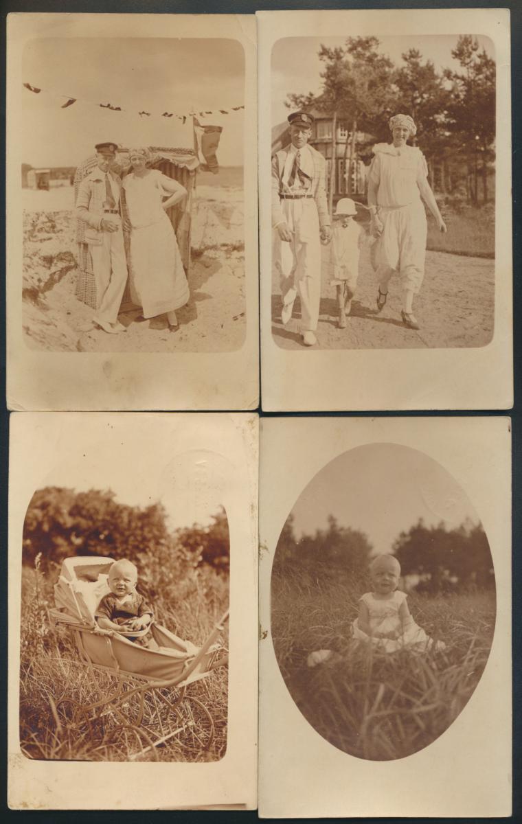 4 Foto Ansichtskarte Koresspondenz Timmdorfer Strand betitelt Horst Wehner 1924  0