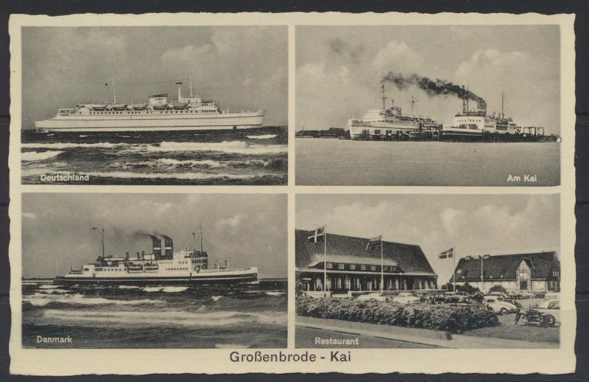 Ansichtskarte Foto Großenbrode Schiffahrt Deutschland Danmark Restaurant Hamburg 0