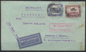 Flugpost Brief Südafrika Namibia 147 166 USAKOS via Cape-Town nach Bamberg