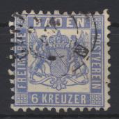 Altdeutschland Baden 19 a gestempelt Kat.-Wert 30,00 0
