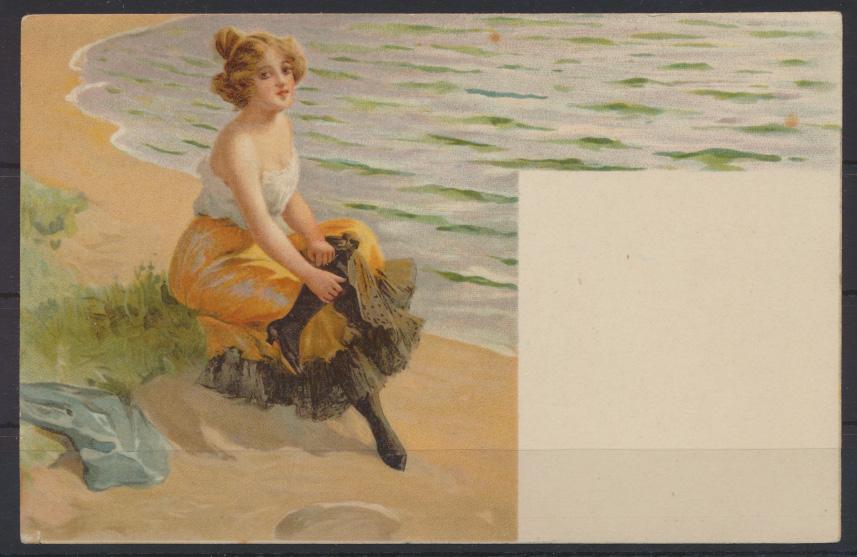 Jugendstil Art Nouveau Künstler Ansichtskarte Frauen Erotik 0