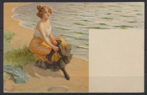 Jugendstil Art Nouveau Künstler Ansichtskarte Frauen Erotik