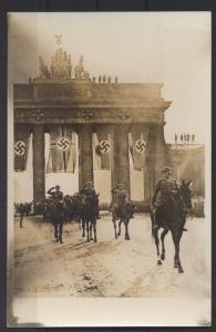 Foto Ansichtskarte Berlin Brandenburger 2 WK Propaganda NS-Zeit