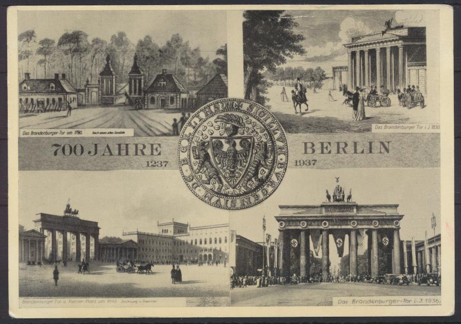 Ansichtskarte Foto 700 Jahre Berlin Brandenburger  2 WK Propaganda NS-Zeit 0