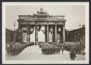 Foto Berlin Brandenburger  Tor 2 WK Propaganda NS-Zeit