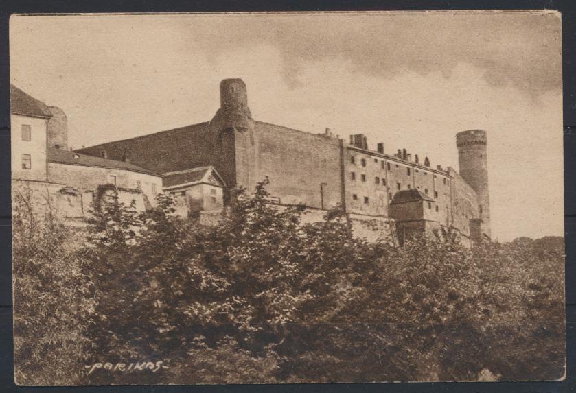 Ansichtskarte Estland Reval Tallinn Schloss Einzelfrankatur 28 n Odense Dänemark 0