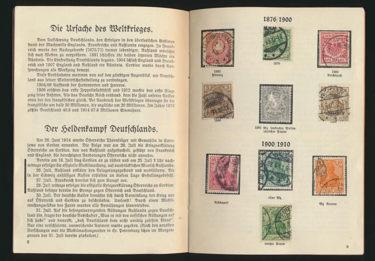 Dokumente aus Deutschlands schönsten und schwersten Tagen 33 Seiten mit Kolonien 5