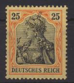 Deutsches Reich 25 Pf Germania 88 I ungebraucht Kat.-Wert 50,00