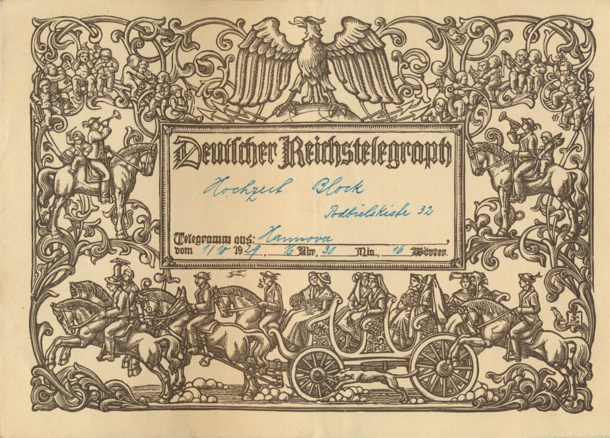Deutsches Reich Gutes Lot Schmuckblatt Telegramme zur Zeit des 3. Reiches 7 St. 2