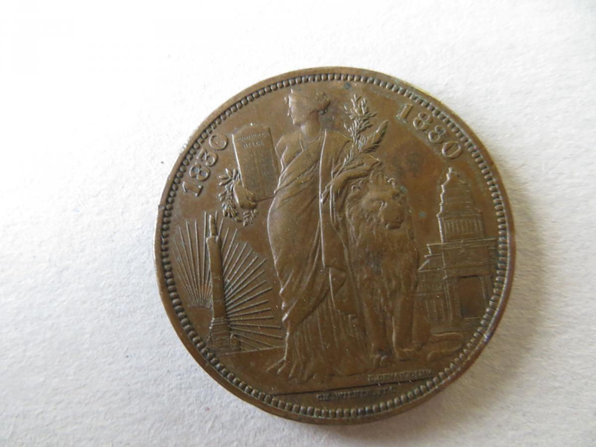 Belgien Medaille Bronze Leopold I + II 1830-1880 Durchmesser 35 mm 1