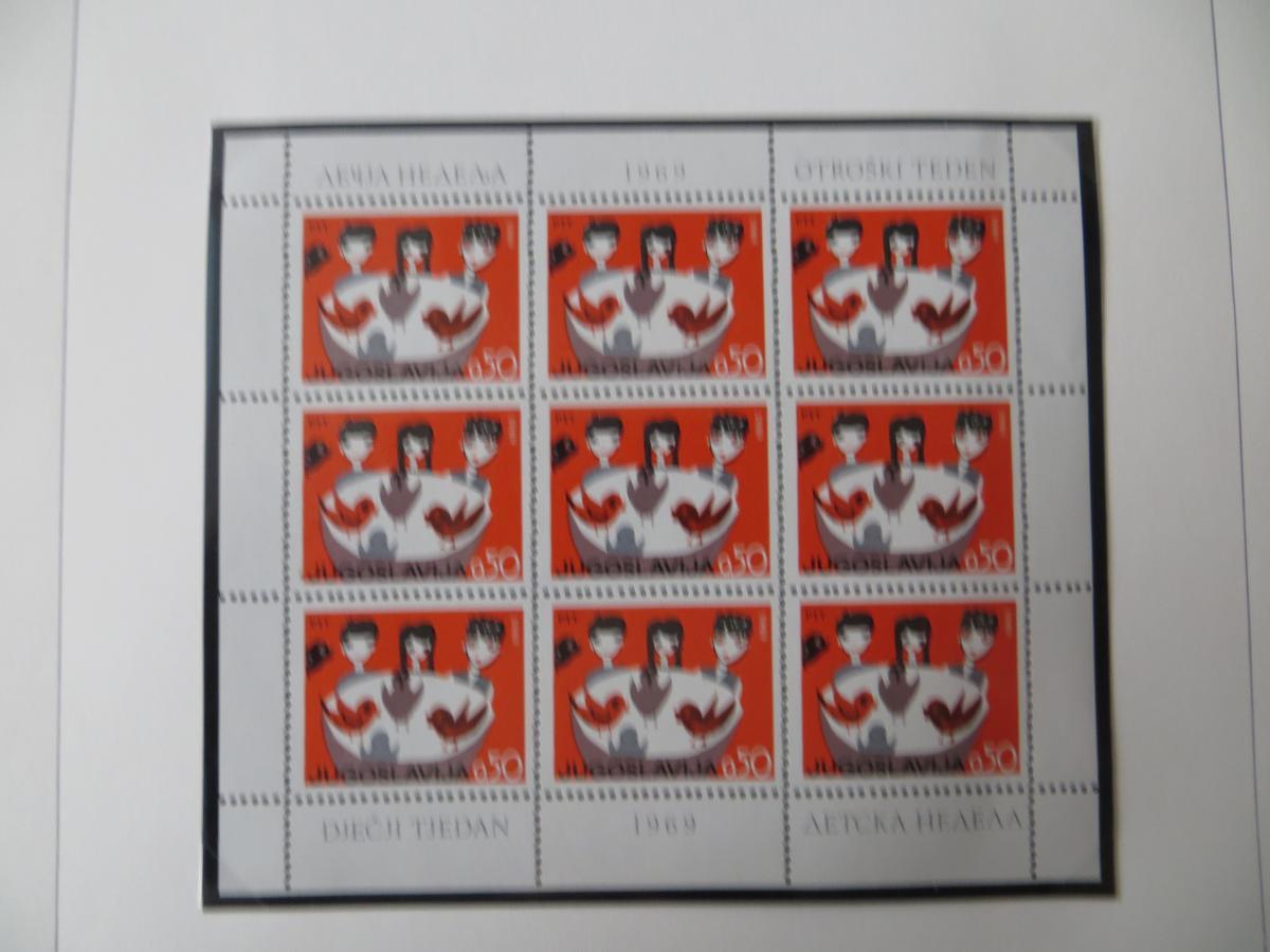 Jugoslawien Sammlung Kleinbogen 1969-1972 Luxsus postfrisch incl. den guten 0