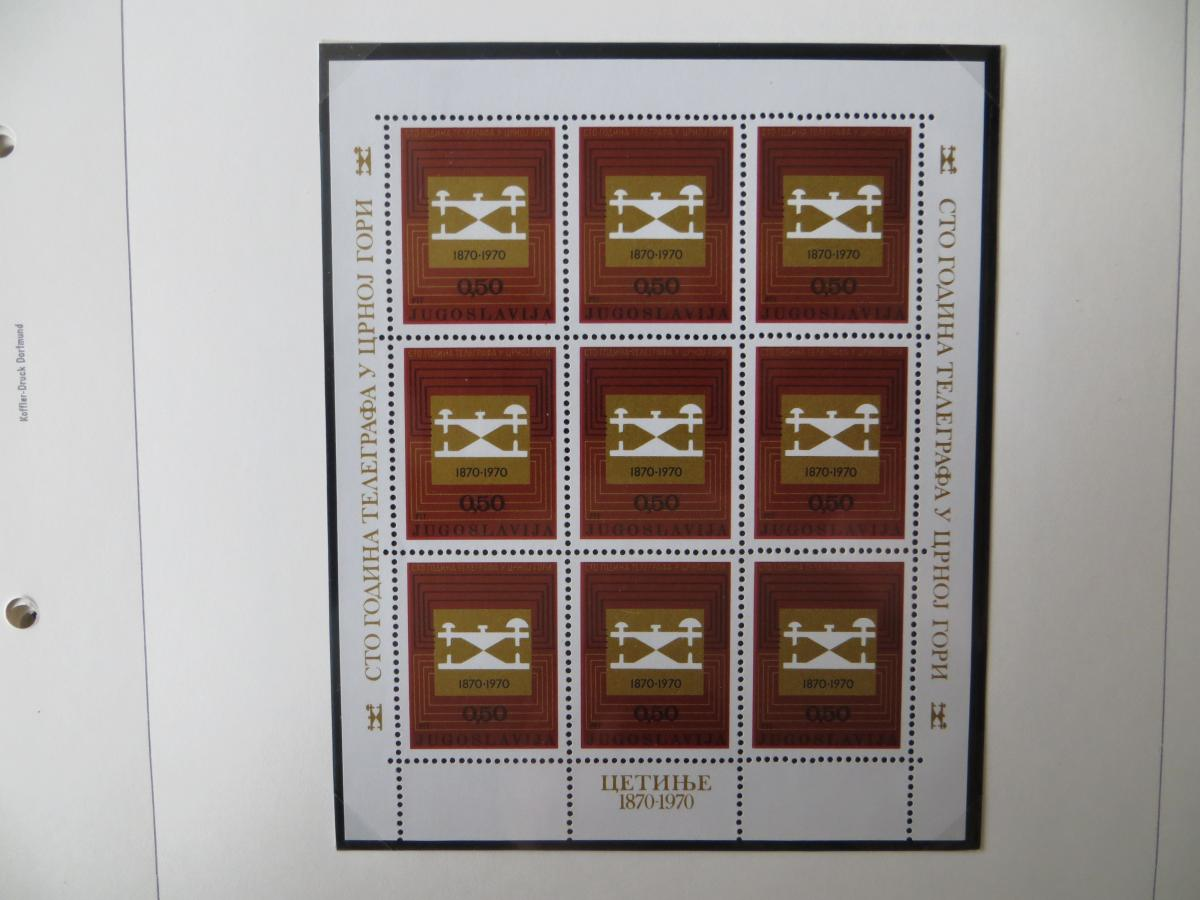 Jugoslawien Sammlung Kleinbogen 1969-1972 Luxsus postfrisch incl. den guten 10