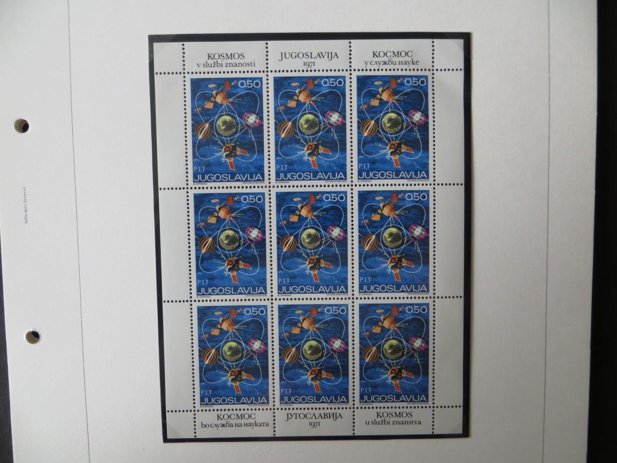 Jugoslawien Sammlung Kleinbogen 1969-1972 Luxsus postfrisch incl. den guten 13