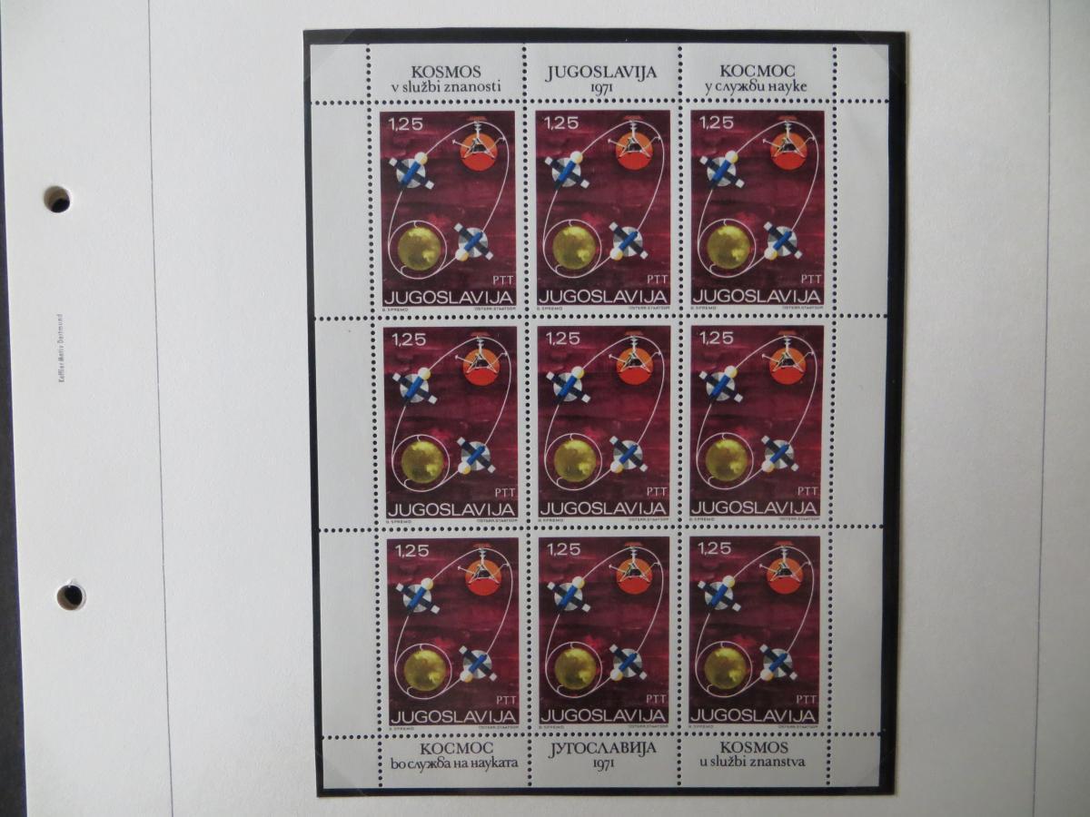 Jugoslawien Sammlung Kleinbogen 1969-1972 Luxsus postfrisch incl. den guten 15