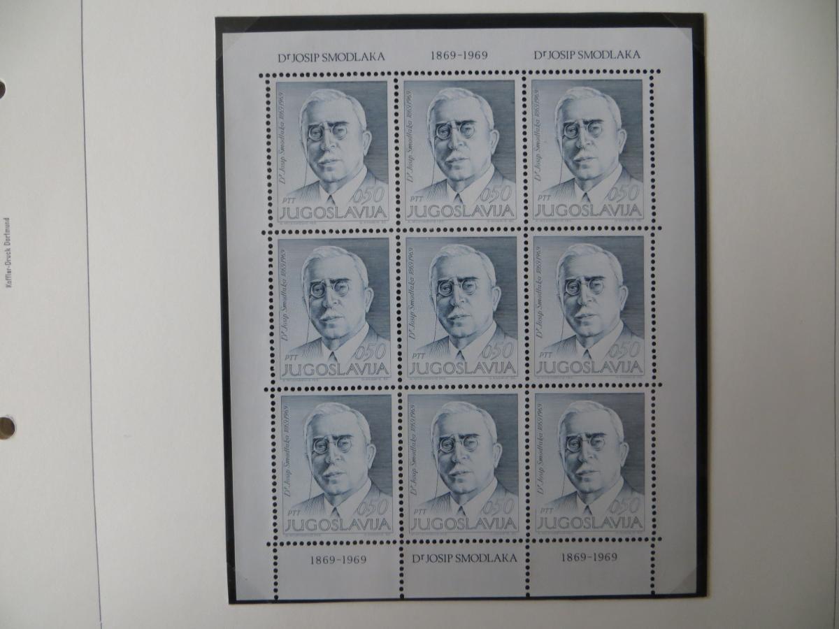 Jugoslawien Sammlung Kleinbogen 1969-1972 Luxsus postfrisch incl. den guten 2