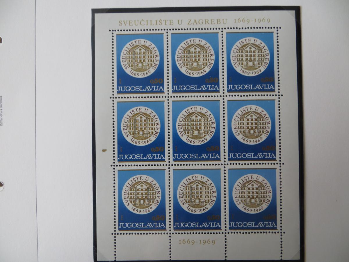 Jugoslawien Sammlung Kleinbogen 1969-1972 Luxsus postfrisch incl. den guten 4
