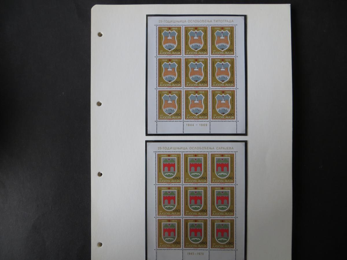 Jugoslawien Sammlung Kleinbogen 1969-1972 Luxsus postfrisch incl. den guten 5