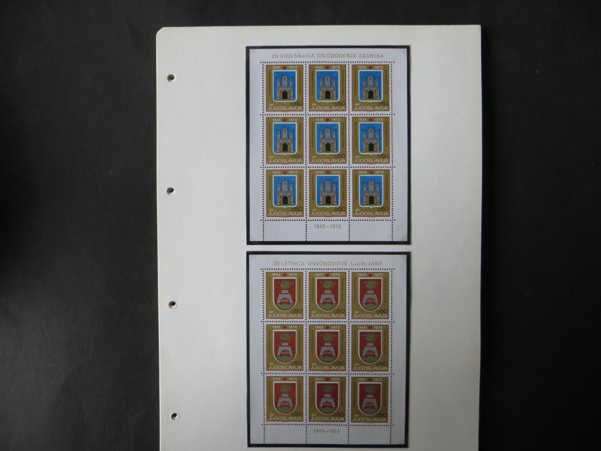 Jugoslawien Sammlung Kleinbogen 1969-1972 Luxsus postfrisch incl. den guten 6