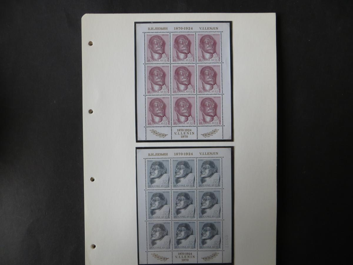 Jugoslawien Sammlung Kleinbogen 1969-1972 Luxsus postfrisch incl. den guten 8