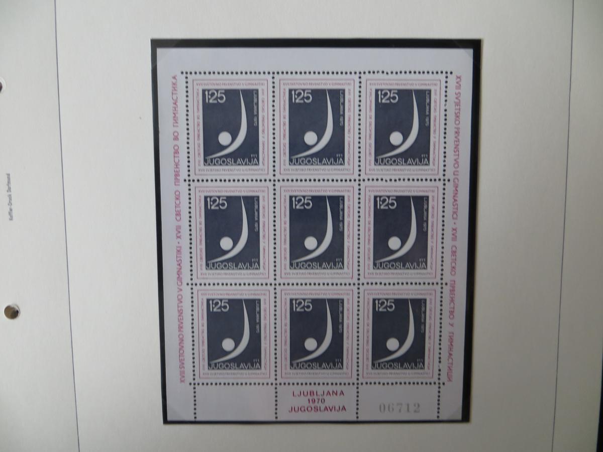 Jugoslawien Sammlung Kleinbogen 1969-1972 Luxsus postfrisch incl. den guten 9