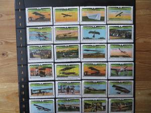 Flugpost Zeppelin Vignetten Sammlung selt. Jugendstil-Serie Flugsport 60 Stck